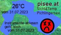 Sichtweite und Temperatur Pichlingersee